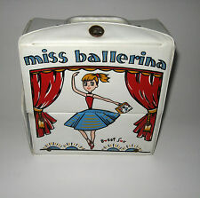 Vintage Miss Ballerina Bobbi Bobby Sox Ballet Toe Shoes Tutu Vinyl Carrying Case