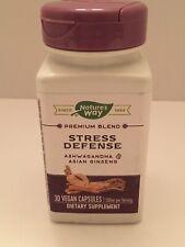 Natures Way Stress Defense Premium Blend with Ashwagandha 30 Vegan Capsules