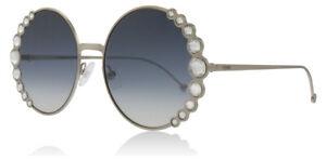 NEW FENDI Ribbons & Crystals FF0324/S 3YGDB 58 Sunglasses Chrome / Blue Gradient