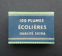 Boite plume ECOLIERES pen nibs box Schreibfeder pennini