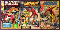 Daredevil #72 to #74 (Marvel 1971) 3 x Bronze Age issues.