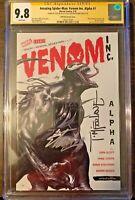 Amazing Spider-Man:Venom Inc Alpha #1 CGC SS 9.8. Dell Otto, STAN LEE, McFarlane