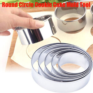 5pcs Stainless Steel Round Mousse Cake Ring Mold Cutter Baking Tools