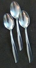 3 Oneida Ltd Stainless ENCORE Soup Spoons