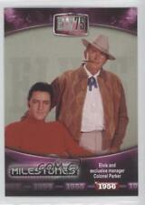 2010 75th Birthday Foil #13 Elvis and exclusive manager Colonel Parker Card 0b6