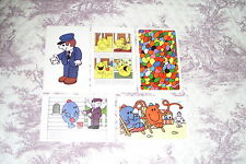 BULK LOT OF 5 VARIOUS POSTCARDS FROM THE MR MEN BOOKS by ROGER HARGREAVES