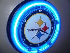 Pittsburgh Steelers Football Gameroom Man Cave Neon Clock Sign