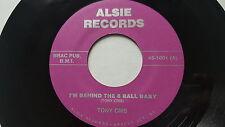"""TONY CRIS - I'm Behind the 8 Ball Baby RARE PRIVATE Arizona Country 7"""" Twangy"""