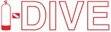 "Scuba Diving Bumper Sticker Decal I-Dive RD/WH  4""  DS20C"