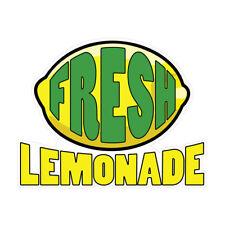 Fresh Lemonade Concession Restaurant Food Truck Die Cut Vinyl Sticker