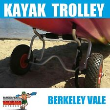 Kayak Trolley Aluminium Foldable Cart SOLID WHEELS SO CAN NEVER PUNCTURE!!