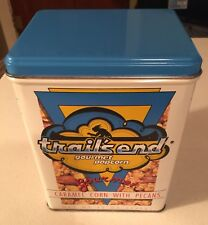 Vtg 1989 Trails End Gourmet Popcorn Collectible Metal Tin Canister~Carmel Corn
