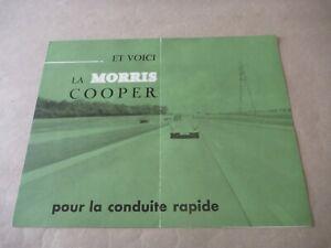 1960's MORRIS AUSTIN MINI COOPER Catalogue Brochure Prospekt Dépliant French