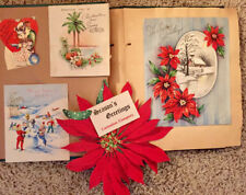 Antique 1920 Scrapbook Full of Old Greeting Cards 1920-40's Excellent