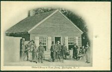 EARLY BURLINGTON NJ POSTCARD, OLDEST LIBRARY IN NJ, UNUSED, VF