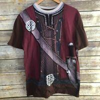NEW Mens Walt Disney World Epcot World Showcase Norway Viking Costume Shirt S