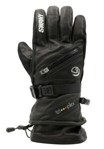NWT SWANY Men's X-Cell Leather Gloves BLACK Large $165 MSRP
