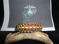 United States Marine Corps (USMC) Multi Camo with stripes Paracord Bracelet