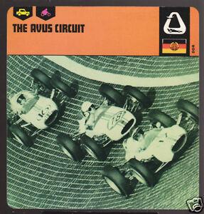 THE AVUS CIRCUIT 1967 Germany Race Track History CARD