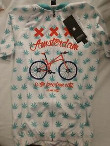 Lot of 2 Cycling jersey short sleeve Pot Leaf/Amsterdam  CD-Clothes New XS