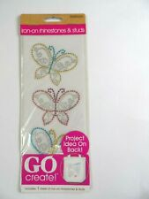 New listing Go Create 1 Pack Of Iron-on Butterfly Rhinestones & Studs Craft Butterflies