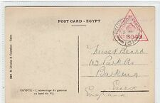 GB USED IN EGYPT: 1916 censored postcard with FIELD POST OFFICE 161 pmk (C24267)