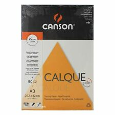 CANSON A3 Tracing SATINE Papier calque Pads 50 feuilles 90gsm trace