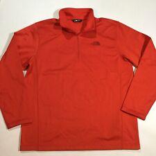 The North Face Mens Size XL 1/4 Zipper Tech Glacier Pullover Sweater In Orange