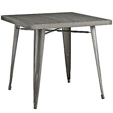 Modway Alacrity Dining Table Gun Metal