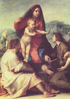 """perfact oil painting handpainted on canvas""""madonna with saints and angels """"N7254"""