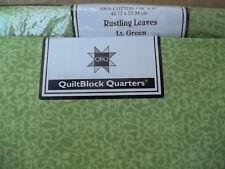 Fat Quarter Jo-Ann Block of the Month Rustling Leaves Lt. Green 100% Cotton NIP