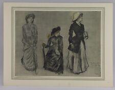 "Edgar Degas (French 1834-1917) from Henri Riviere ""Les Dessins de Degas"" Litho"