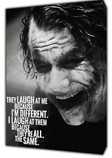 JOKER THEY LAUGH Photo/Picture PRINT ON Wood FRAMED CANVAS WALL ART DECORATION