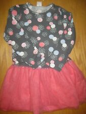 NWT Gymboree Cozy Fairytale size 5T Gray Dot Pink Tutu Dress