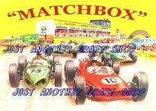 Matchbox Toys 1964 Race Track Poster Artwork Shop Display Sign Leaflet A4 size