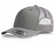 NEW FLEXFIT MESH SNAPBACK CAP BLACK PLAIN BASEBALL TRUCKER GOLF ERA PEAK HAT