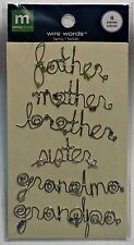 Making Memories Wire Words Family 6 pcs Father Mother Brother Sister Grandma NEW