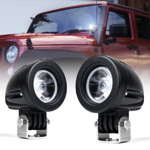 2x 10W CREE LED Spot Light Mini Round Work Lamp for Jeep Offroad Trucks ATV UTV