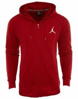 MEN'S NIKE JORDAN JACKET SIZE LARGE FULL ZIP HOODIE RED/WHITE 724499 687 NWT