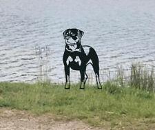 More details for rottweiler metal dog garden art