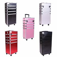 WestWood Makeup Beauty Cosmetic Hairdressing Case Box Trolley Alu 4 In 1 MTC02
