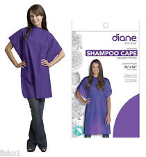 "Diane #DTA01434 Shampoo Cape 36""x 54"" Vinyl self grip Closure PURPLE"