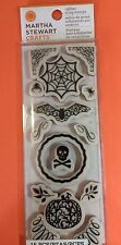 Martha Stewart Rubber Cling Stamps-Halloween-15 pc- Free Shipping