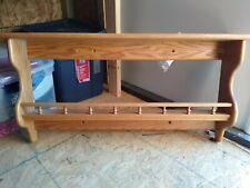 "Wall shelf 35"" long, medium oak, solid wood"