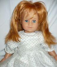 Gotz Puppe Red Hair Doll In White Glitter Dress