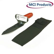 Lesche Digging Tool & Sod Cutter Right Side Serrated Blade with Free Sheath