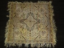 """VINTAGE 30"""" X 30"""" MIDDLE EASTERN HORSE & MOSQUE PIANO SCARF"""