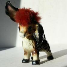 Donkey-Mule-Burro Figure Red Furry Hair Ceramic-Porcelain Orimco World Creations