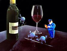 "*Michael Godard-""NERVOUS GRAPES"" Police-Wine-Las Vegas-Art-*POSTER on CANVAS*"