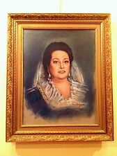 Cuadro de Montserrat Caballé Original Firmado Raymón Serena